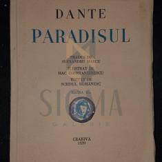 MARCU ALEXANDRU (traducere) - DANTE ALIGHERI, PARADISUL (Ilustratii de MAC CONSTANTINESCU), 1932, Craiova - Carte in engleza