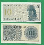 =  INDONEZIA 10  SEN 1964  -  P – 92  UNC  =