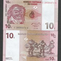 CONGO 10 CENTI CENTIMES 1997 UNC [1] P-82a, necirculata - bancnota africa