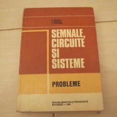 SEMNALE CIRCUITE SI SISTEME PROBLEME M.SAVESCU