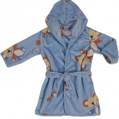 Halat de baie pentru copii Velur Fleece 606AL, Albastru