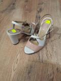 LICHIDARE STOC! Sandale dama noi piele naturala foarte comode 37 !, Crem