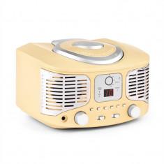Auna RCD320, CD player retro, FM, AUX, crem