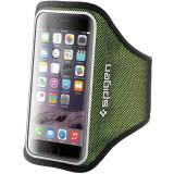 Husa Flip Cover Spigen Sports Armband Green pentru iPhone 6/6S