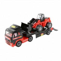 Camion Volvo cu platforma si excavator Mammoet - Vehicul