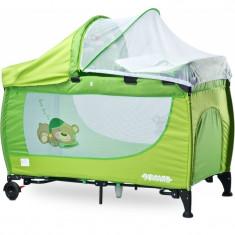 Patut pliabil pentru copii Caretero Grande PCG1V, Verde