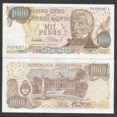 ARGENTINA 1000 1.000 PESOS 1982 1983, UNC [1] P-304d.2, necirculata - bancnota america