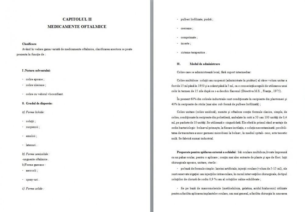 Licenta: Forme Farmaceutice Oftalmice (#) - Graduo