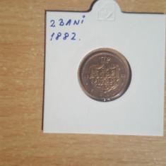 2 bani 1882 - C, A, R, ( CAROL ) si R (REGE) intrerupt - Moneda Romania