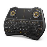 Mini tastatura wireless iluminata cu audio chat si functie de airmouse, Rii, Resigilata, Smart, Fara fir