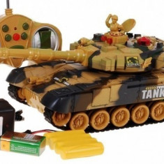 Tanc de lupta cu telecomanda Power Tank 9993 Camuflaj Desert,trage cu laser,NOU.
