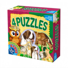 Puzzle animale domestice D-toys