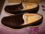 Pantofi barbatesti toamna-iarna UGG ORIGINALI! Maro, piele, marimea 42, Piele naturala