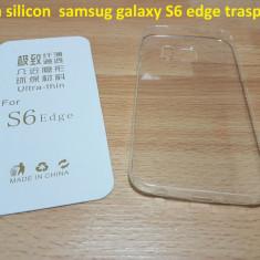 Husa silicon samsug galaxy S6 edge trasparent - Husa Telefon Samsung, Transparent