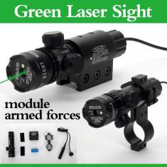 Laser Verde cu Acumulator Pentru Arma de Vanatoare 5 mW - Laser pointer