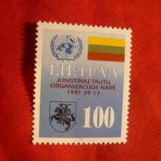 Serie Conferinta ONU 1992 Lituania, 1 valoare - Timbre straine, Nestampilat