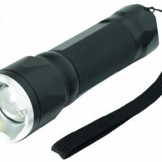 Lanterna CREE LED 3W, zoom, metalica, husa transport, Home
