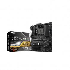 Placa de baza MSI Socket AM4 RYZEN, B350 PC MATE, AMD B350 Chipset, 4*DDR4 1866/ 2133/ 2400/ 2667(OC)/ 2933(OC)/ 3200(OC)+ Mhz, 2*PCI-Ex16, bulk, ATX