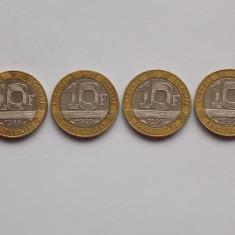 LOT 4 MONEDE 10 FRANCI FRANTA (1988-1989-1990-1991), Europa