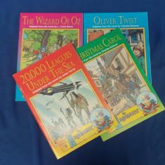 4 CARTI COPII IN LIMBA ENGLEZA : VRAJITORUL DIN OZ, O POVESTE DE CRACIUN...-1994 - Carte in engleza