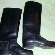 Cizme vechi inalte piele, cizme militare de cavalerie, parada si protocol, T.GRAT - Cizme barbati, Marime: 41, Culoare: Negru, Piele naturala