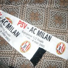 Fular de matase - Suporteri Echipa Fotbal PSV Einhoven la Meci cu AC Milan - Fular fotbal