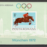 Romania.1972 Preolimpiada MUNCHEN-colita nedantelata XR.457 - Timbre Romania, Nestampilat