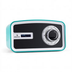 Auna Sheffield retro albastru turcoaz Digital Radio DAB + FM baterie - Aparat radio