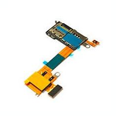 Banda flex cititor si card Sony Xperia M2 Aqua D2403 swap functionala - Capac baterie