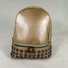 Rucsac dama auriu cu capse+CADOU