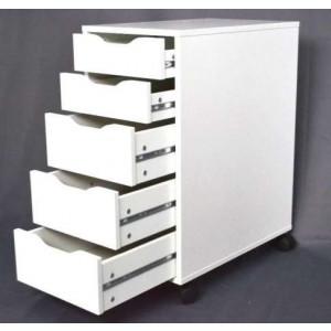 Masa manichiura cu dulapior 5 sertare 120cm - 60cm