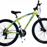 Bicicleta MTB UMIT Camaro 2D ,culoare Galben, roata 27.5, aluminiu ,cadru 18PB Cod:2761018000