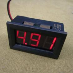 Voltmetru digital display rosu 4.5-30V 2 fire 0.56 inch 3 digit