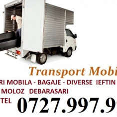 Transport mobila, gunoaie, moloz, diverse