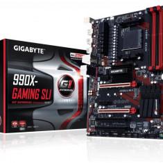 Placa de baza GIGABYTE Socket AM3+, 990X-GAMING SLI, AMD 990X, 4* DDR3 2000(O.C.)/1866/1600/1333, 1*PCIEx16/1*PCIEx16 (max. x8)/1*PCIEx16 (max. bulk, Pentru AMD, ATX
