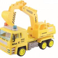 Camion Cu Excavator Rotativ Super Power - Vehicul Baby Mix