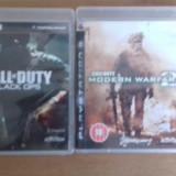 LOT 2 Jocuri Call of duty - Black Ops - MW2 - PS3 [Second hand] - Jocuri PS3, Shooting, 18+, Multiplayer