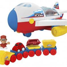 Jucarie baieti avion de marfa cu lumini si sunete - Avion de jucarie