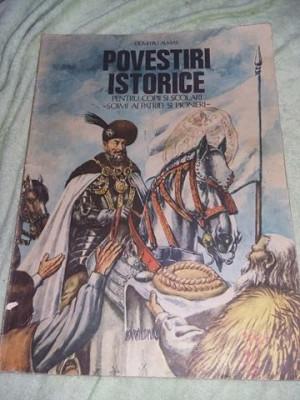 Carte copii veche,POVESTIRI ISTORICE 2,Dumitru Almas 1984,pt.pionieri,Tp.GRATUIT foto