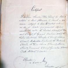 DOCUMENT VECHI CERTIFICAT DE ABSOLVIRE PETRU RARES PIATRA NEAMT