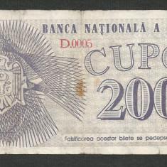 MOLDOVA 200 CUPON / CUPOANE 1992 [1] P-2 - bancnota europa