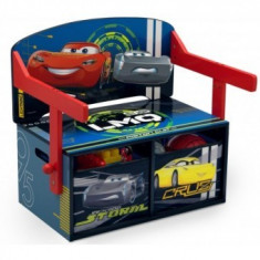 Mobilier 2in1 pentru depozitare jucarii Cars 3-6 ani - Masuta/scaun copii