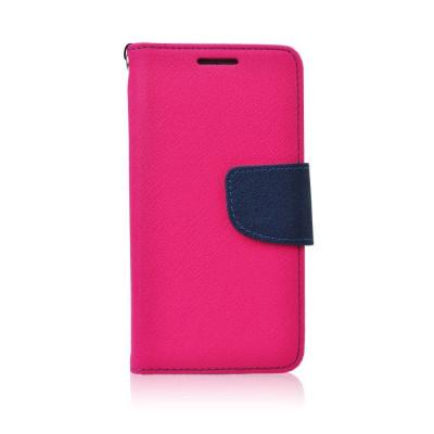Husa Samsung Galaxy S6 Edge Fancy Book Roz-Bleumarina - CM04305 foto