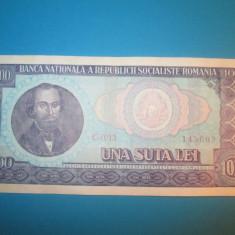 Romania 100 lei 1966 _ Nicolae Balcescu - Bancnota romaneasca