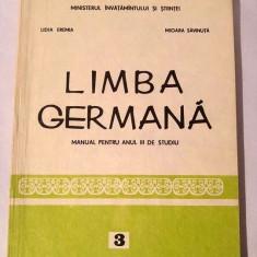 Limba germana - Manual pentru anul III de studiu, 1992 - Curs Limba Germana
