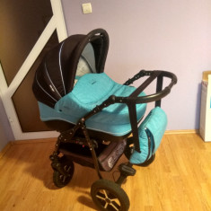Cărucior BABY CARE 3 IN 1 - Carucior copii 3 in 1 Baby Care, Albastru