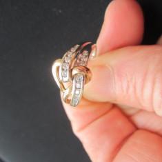 Superb inel aur diamante 14 k, diamante naturale - Inel diamant, Culoare: Alb