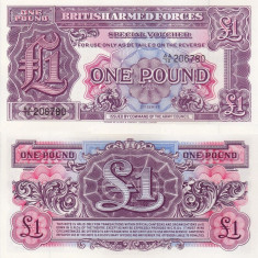BRITISH ARMED FORCES 1 pound ND (1948) UNC!!!