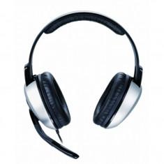 Casti audio Genius HS-05A, 3.5 mm Jack, Peste cap, Negru - Casca PC