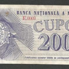 MOLDOVA 200 CUPON / CUPOANE 1992 [02] P-2, XF - bancnota europa